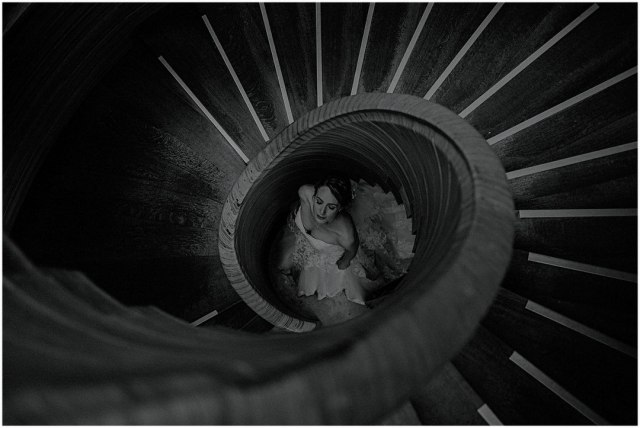 scottish bride in creative photography