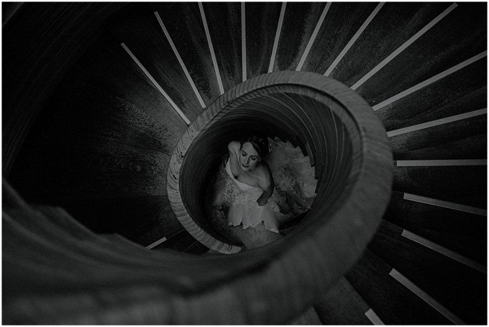 scottish bride in creative photography