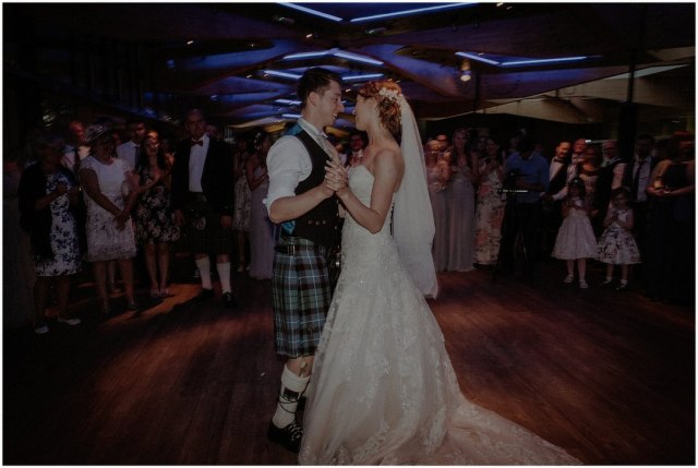 first dance in scotland with groom in kilt