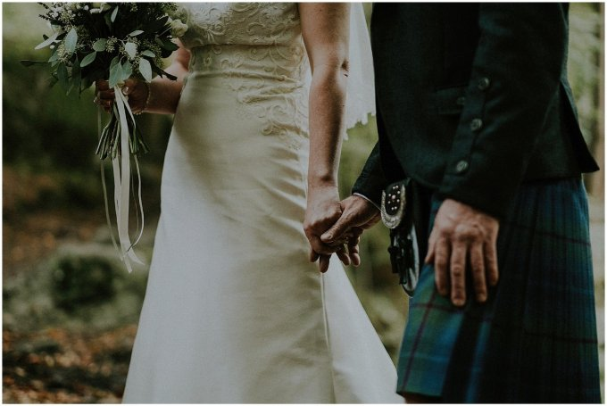bride and groom scotland kilt