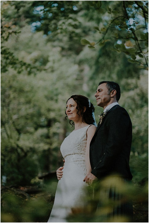 bride and groom scotland