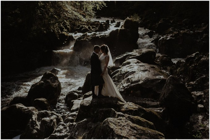 outdoor wedding at The Hermitage dunkeld