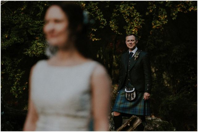 groom and bride scotland