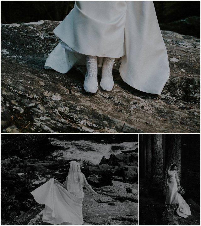 bridal wellies outdoor wedding