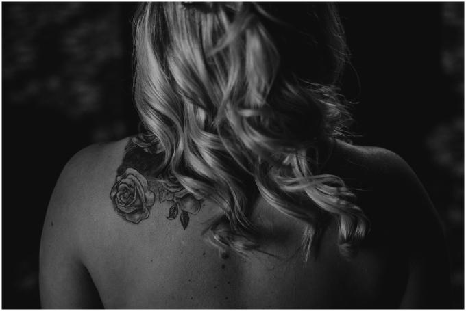 tatoo on a bride during bridal prep scotland wedding