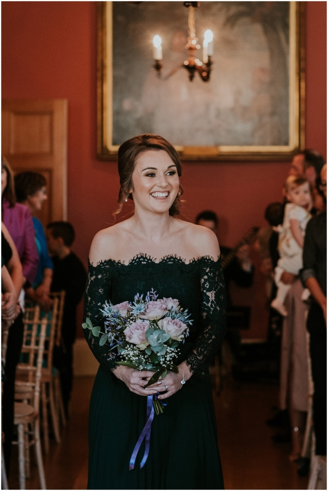 bridesmaid at winton castle