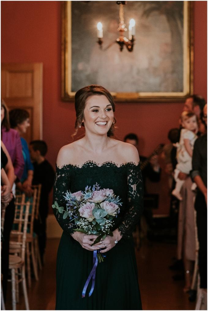 bridesmaid at winton castle
