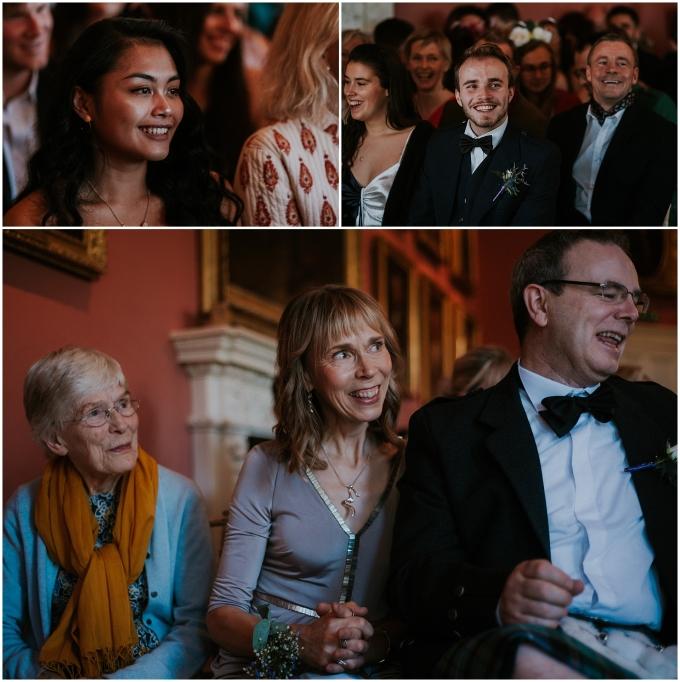 guests at edinburgh wedding