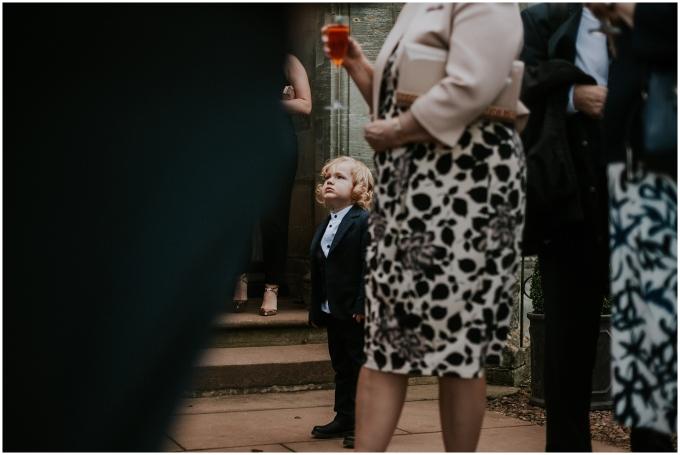 boy at a wedding at winton castle