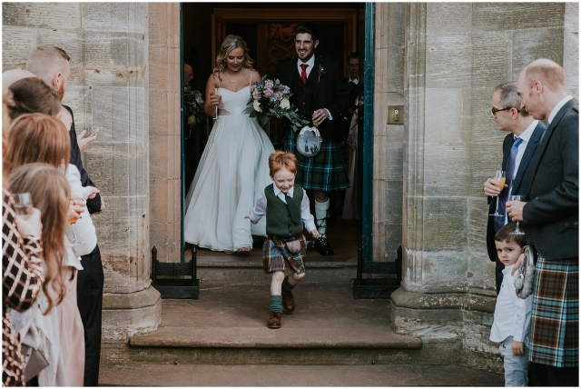 boy in a kilt at scottish wedding