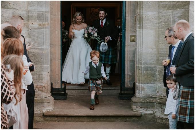 boy in a kilt at scottish wedding