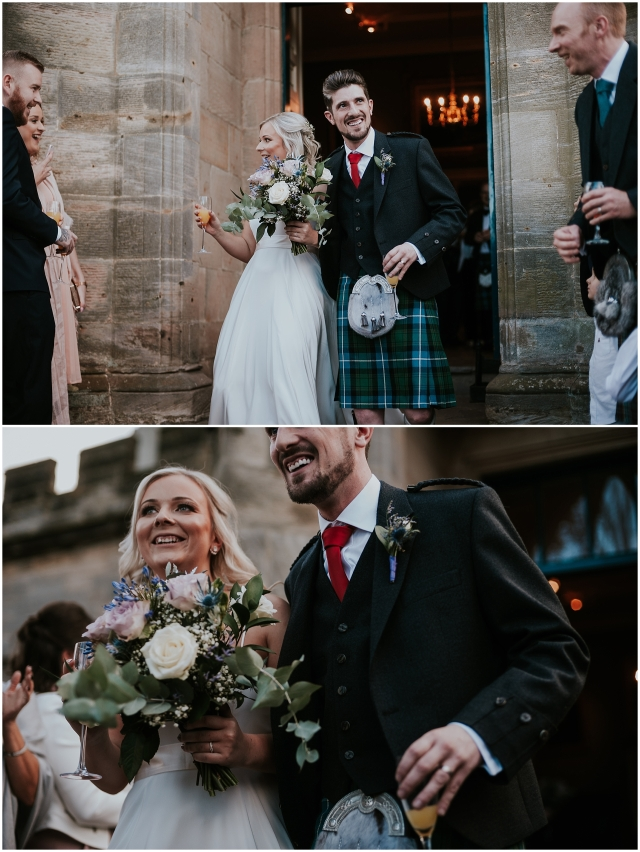 couple at wedding in scotland