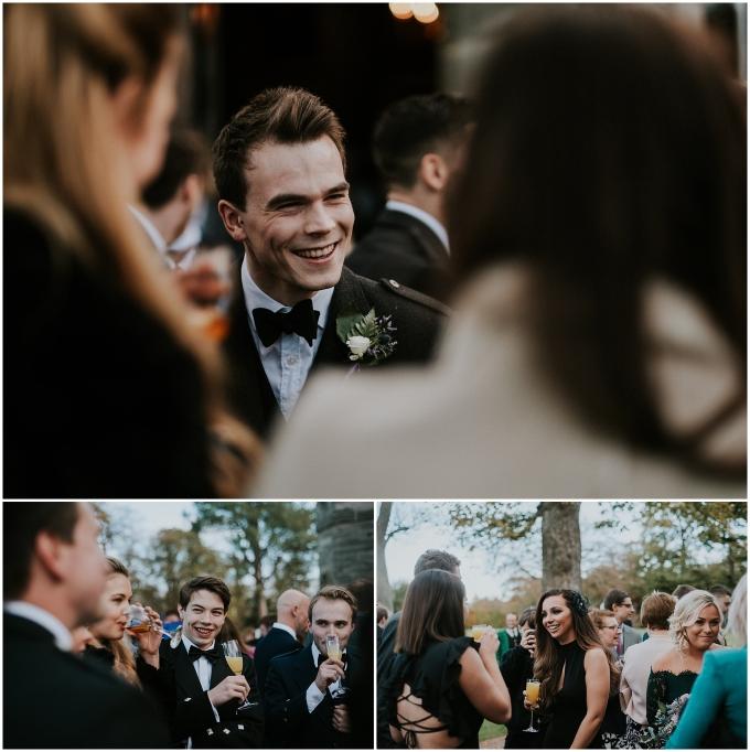guests at scottish wedding