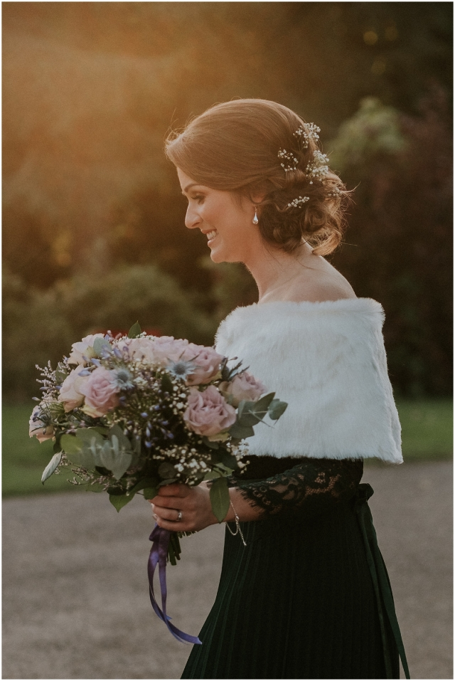 bridesmaid portrait in scotland
