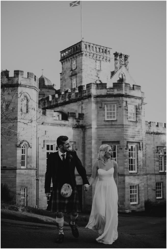 bride and groom winton castle