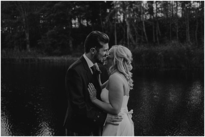 bride and groom at winton castle