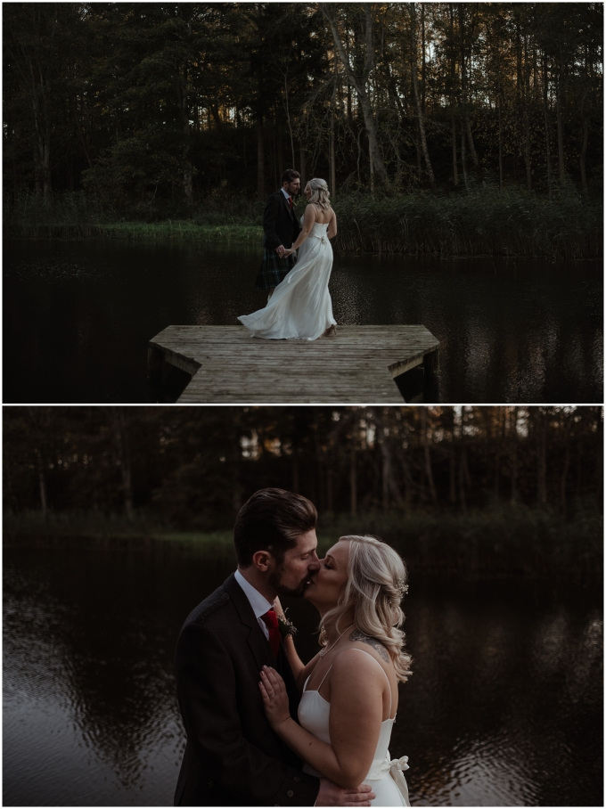 bride and groom portraits scotland wedding