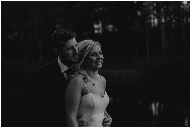 bride and groom winton castle wedding