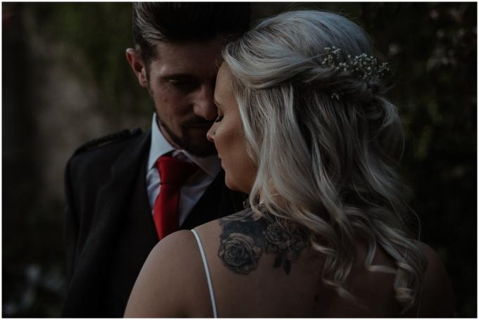 bride and groom at wedding in scotland winton castle