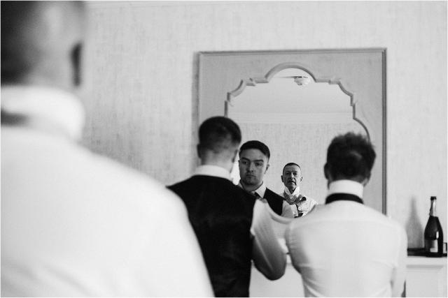groomsmen get ready