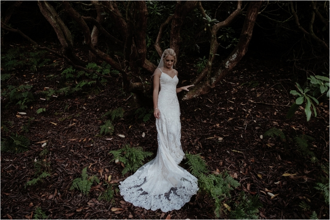 bride portrait in the outdoors