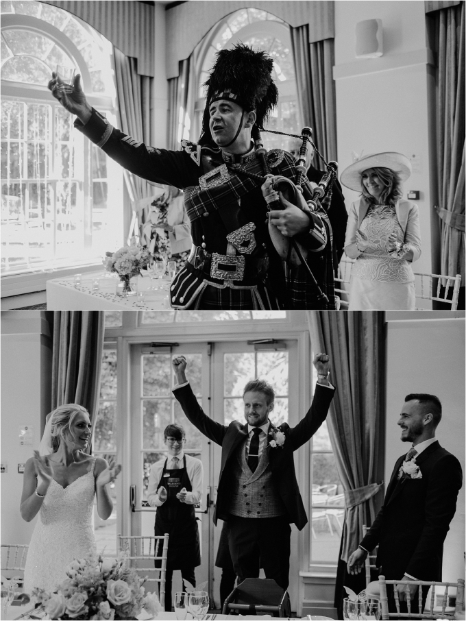 piper at scottish wedding