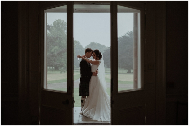 couple during their paxton house wedding