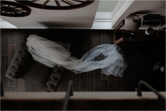 bridal veil at scottish elopement