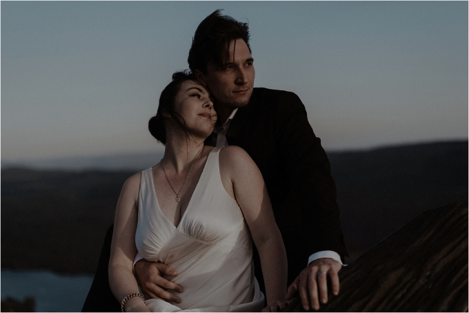 couple elope to scotland loch lomond