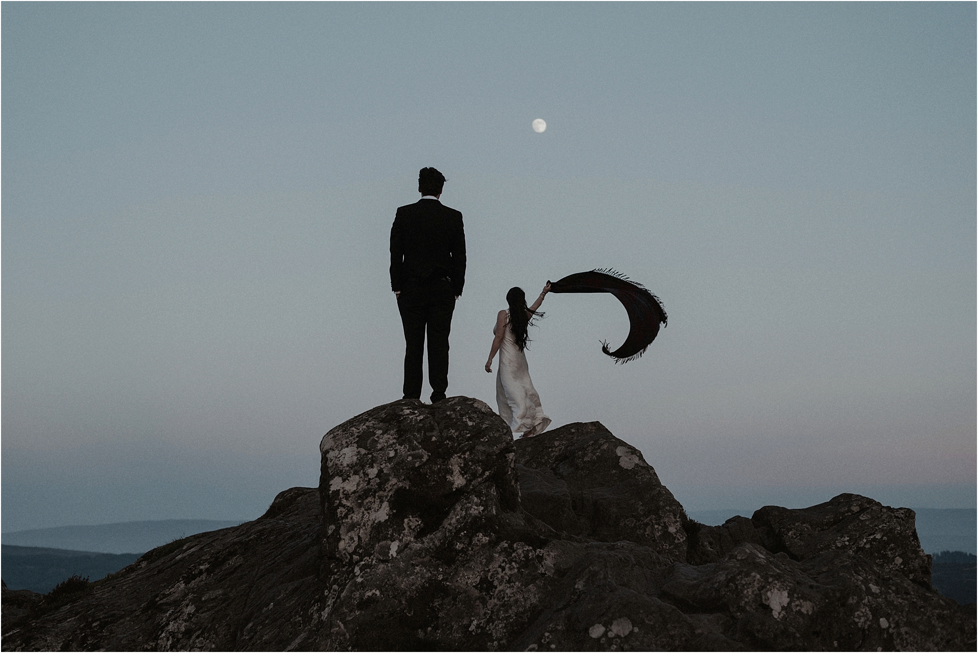 elopement in scotland on a mountain top